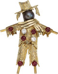Estate Jewelry:Brooches - Pins, Diamond, Ruby, Cultured Pearl, Gold Brooch. ...