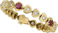 Estate Jewelry:Bracelets, Ruby, Diamond, Gold Bracelet . ...