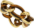 Estate Jewelry:Bracelets, Tiger's-Eye Quartz, Gold Bracelet The bracelet...
