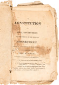 Books:Pamphlets & Tracts, [Connecticut]. A Constitution of Civil Government, for the People of the State of Connecticut. Framed by a Convent...