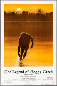 "The Legend of Boggy Creek (Howco, 1973). One Sheet (27"" X 41"") Ralph McQuarrie Artwork. Thriller"