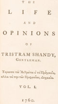 Books:Literature Pre-1900, [Laurence Sterne]. The Life and Opinions of Tristram Shandy, Gentleman. London: Printed for R. and J. Dodsley; Print... (Total: 9 Items)