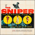 "Movie Posters:Crime, The Sniper (Columbia, 1952). Six Sheet (79"" X 79""). Crime.. ..."