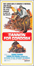 "Movie Posters:Western, Cannon for Cordoba (United Artists, 1970). Folded, Very Fine-.Three Sheet (41"" X 78.5""). Western.. ..."