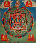 Asian:Other, A Tibetan Mandala Thangka, 18th century. 16 inches high x 13-1/2inches wide (40.6 x 34.3 cm) (work). PROVENANCE:. Frederi...