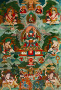 Asian:Chinese, A Tibetan Thangka Depicting Vajradhara, 19th century. 41-1/2 inches high x 28-1/2 inches wide (105.4 x 72.4 cm). PROPERTY ...