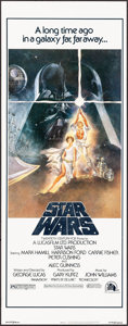 "Movie Posters:Science Fiction, Star Wars (20th Century Fox, 1977). Insert (14"" X 36"") Tom Jung Artwork. Science Fiction.. ..."