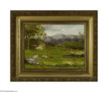 Fine Art:Paintings, AMERICAN SCHOOL (19th century) Spring Landscape Oil on canvas 14in.x 19in. Inscribed 'W Conway' on front Condition R...
