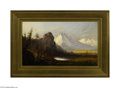 Paintings, AMERICAN SCHOOL (19th Century). Cathedral Rock. Oil on canvas. 12in. x 20in.. Inscribed on stretcher bar on reverse: ABierst...