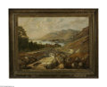 Fine Art:Paintings, WILLIAM FREDERICK MITCHELL (British 1845-1914) A Glimpse ofDerwentwater from Ashness Bridge, 1874 Oil on canvas 22.25in....