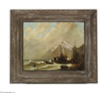 Fine Art:Paintings, EUROPEAN SCHOOL (19th Century) Maritime Scene Oil on canvas21.25in. x 27in. Condition report: Canvas is wax-lined, pa...