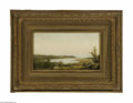 Fine Art:Paintings, AMERICAN SCHOOL (19th Century) Panoramic view fo a Bay Oil oncanvas 8in. x 14in. Condition Report: Unlined original c...