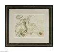Paintings, GEORGE GROSZ (American 1893- 1959). Soldiers Attacking a Village, 1937. Watercolor on paper. 15.5in. x 19.5in.. Signed lower...