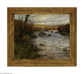 Fine Art:Paintings, LOUIS ASTON KNIGHT (American 1873-1948) Twilight along the RiverOil on canvas laid down on masonite 26in. x 32in. Signe...