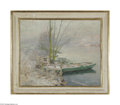 """Paintings, EMILE CLAUS (Belgian 1849-1924) . January. Oil on canvas. 23.5in. x 29in.. Signed indistinctly lower left, inscribed """"Janu..."""