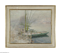 """EMILE CLAUS (Belgian 1849-1924) January Oil on canvas 23.5in. x 29in. Signed indistinctly lower left, inscribed """"Ja..."""