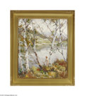 Fine Art:Paintings, EMILE ALBERT GRUPPE (American 1896-1978) Nude by the River Oil on canvas 30in. x 25in. Signed lower right Condition R...