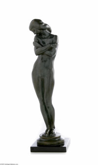 HARRIET WHITNEY FRISHMUTH (American 1880- 1980) Dream Days, 1939 Bronze 17.5in. tall Signed in cast Founder's mark: Rom...