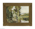 Paintings, JACK WILKINSON SMITH (American 1873-1949). Landscape with Stream. Oil on canvas. 21.25in. x 29.75in. Signed lower right. C...