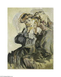 Attributed to ISAAC LAZARUS ISRAELS (Dutch 1865-1934) Lighting a Cigarette Oil on masonite 22.25in. x 16.75in. Signed lo...