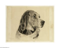 Fine Art:Paintings, EDWARD HOPPER (American 1882-1967) Dog with Black Collar Charcoalon paper 15in. x 19.25in. Signed lower left Provenanc...