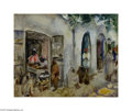 Fine Art:Paintings, MARTHA WALTER (American 1875-1976) Soup Vendors in Fez Oil on board8.5in. x 10.5in. Signed lower right Titled and sign...