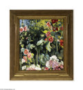 Fine Art:Paintings, MARTHA WALTER (American 1875-1976) Hollyhocks Oil on masonite 30in.x 26in. Signed lower right Exhibited: Impressioni...