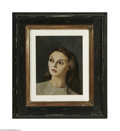 Paintings, LEONOR FINI (French 1908-1996). Portrait of a Woman. Oil on canvas. 9.5in. x 7.5in.. Signed lower right. Condition Report:...