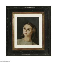 LEONOR FINI (French 1908-1996) Portrait of a Woman Oil on canvas 9.5in. x 7.5in. Signed lower right  Condition Report:...
