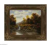 A.D. GREER (American 1904-1998) Autumn Landscape Oil on canvas 24in. x 30in. Signed lower right  Condition Report: Ove...