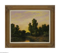 Fine Art:Paintings, A.D. GREER (American 1904- 1998) Twilight Landscape Oil on canvas24in. x 30in. Signed lower left Condition Report: O...