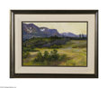 Fine Art:Paintings, JOSEPH HENRY SHARP (American 1859 - 1953) Evening in BlackfootCountry Oil on canvas 12in. x 18in. Exhibition: Joseph ...