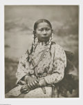 Fine Art:Paintings, LATON ANTON HUFFMAN (American 1854-1931) Seated Indian WomanPhotograph 19.75in.x 15.75in. Stamped on reverse and number...
