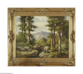 Paintings, ROBERT WOOD (American 1889-1979). Mountain Landscape. Oil on canvas. 24in. x 30in.. Signed lower right. Condition Report: ...