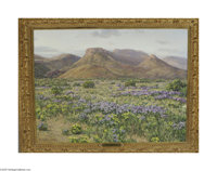 STAPLETON KEARNS (American b. 1952) Cat's Claw Valley Oil on canvas 36in. x 48in. Signed lower right  A hand-illustrat...