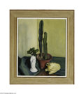 Fine Art:Paintings, LUIGI LUCIONI (American 1900-1988) Green Arrangement Oil on canvas24in. x 20in. Signed lower right Provenance: Associa...