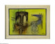 WILFREDO LAM (Cuban 1902 - 1982) Sin Titolo, 1974 Oil on canvas 19.5in. x 27.5in Signed and dated lower right Conditi