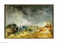 Paintings, JEAN JANSEM (French b.1920). La Monnaie du Pape, 1964. Oil on canvas. 31.5in x51.25in.. Signed and dated lower right. Proven...