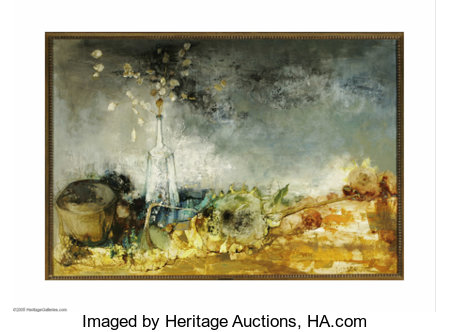JEAN JANSEM (French b.1920) La Monnaie du Pape, 1964 Oil on canvas 31.5in x51.25in. Signed and dated lower right Proven...