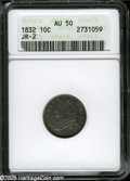 "Bust Dimes: , 1832 10C AU50 ANACS JR-2. The current Coin Dealer Newsletter (Greysheet) wholesale ""bid"" price is $290.00...."