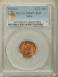 India:British India, India: British India. George V 3-Piece Group of Certified 1/12 Annas PCGS,... (Total: 3 coins)