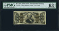 Fractional Currency:Third Issue, Fr. 1338 50¢ Third Issue Spinner PMG Choice Uncirculated 63 Net.. ...