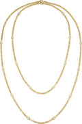 Estate Jewelry:Necklaces, Diamond, Gold Necklaces. ... (Total: 2 Items)