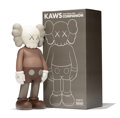 Fine Art - Sculpture, American:Contemporary (1950 to present), KAWS (b. 1974). Five Years Later Companion (Brown), 2004.Painted cast vinyl. 14-3/4 x 6-1/2 x 3-3/4...