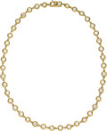 Estate Jewelry:Necklaces, Diamond, Gold Necklace . ...
