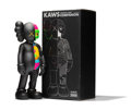 General Americana, KAWS (b. 1974). Dissected Companion (Black), 2006. Paintedcast vinyl. 14-3/4 x 6-1/4 x 3-1/4 inches (37.5 x 15.9 x 8.3 ...