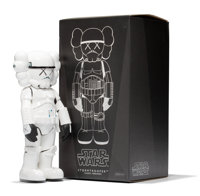 KAWS X Lucas Films Stormtrooper, 2008 Painted cast vinyl 9-3/4 x 4-1/2 x 3 inches (24.8 x 11.4 x
