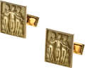 Estate Jewelry:Cufflinks, Gold Cuff Links, French. ...