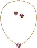 Estate Jewelry:Suites, Diamond, Ruby, Gold Jewelry Suite, Piaget . ... (Total: 2 Items)