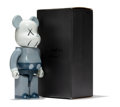 Fine Art - Sculpture, American:Contemporary (1950 to present), KAWS X BE@RBRICK. Companion 400% (Blue/Grey), 2006. Paintedcast vinyl. 10-3/4 x 5 x 3-1/2 inches (2...